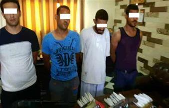 بالصور.. ضبط 4 عاطلين بحوزتهم مخدرات وسلاح ناري بمركز أشمون بالمنوفية