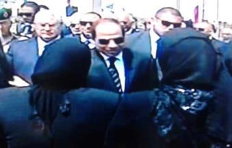السيسى وكبار رجال الدولة  يتقدمون الجنازة العسكرية للدكتور زويل