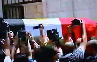 """تشييع جثمان العالم الدكتور أحمد زويل من مقر مدينة """"زويل للعلوم والتكنولوجيا"""""""