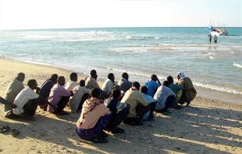 ضبط 14 مهاجرًا غير شرعي قبل سفرهم إلى إيطاليا عبر شاطىء إدكو في البحيرة