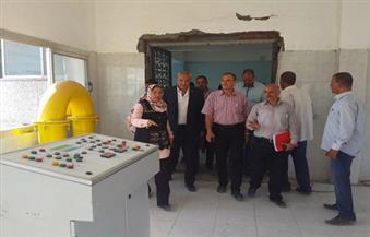 بالصور.. محافظ المنيا ورئيس القومية لمياه الشرب يتفقدان أعمال تنفيذ محطتي إبشادات والمعصرة بملوي