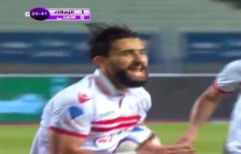 باسم مرسي يحرز هدفين للزمالك فى الأهلي بقمة الكأس