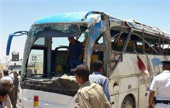 إصابة اثنين فى تصادم بين أتوبيس سياحة وسيارة نقل بمرسى علم