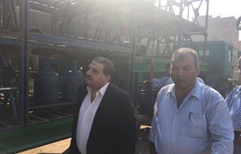 """بالصور.. رئيس """"بوتاجاسكو"""": زيادة حصة مستودع """"شلقان"""" من أسطوانات البوتاجاز لـ30%.. ويثني على العاملين"""