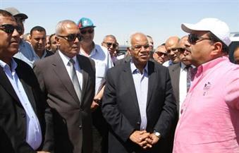 بالصور.. وزير النقل يتفقد أعمال تطوير طريق القاهرة السويس ضمن المشروع القومي للطرق
