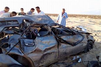 مصرع مأمور ضرائب وإصابة 3 في حادث سير على طريق جمصة
