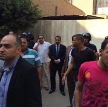 مدير الأمن وسكرتير المحافظ ينتقلان لموقع انفجار أسطوانات غاز ميت غمر بالدقهلية