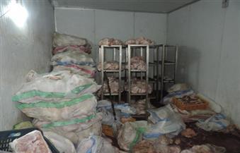 ضبط كميات كبيرة من اللحوم والأسماك والدواجن غير صالحة للاستهلاك في حملة بيطرية بغرب مدينة نصر