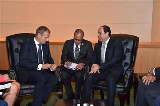 السيسي يلتقى رئيس المجلس الأوروبي على هامش أعمال الجمعية العامة للأمم المتحدة