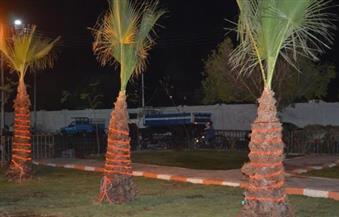 """بالصور ..الانتهاء من تشجير حديقتين بمنطقة سيدي عمر بقنا في إطار مبادرة """" حلوة يا بلدي"""""""