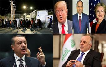 السيسي يلتقي كلينتون وترامب يستشيره.. أردوغان وجولن.. تحرير الموصل.. حريق بمخيم لاجئين.. بنشرة السادسة صباحًا