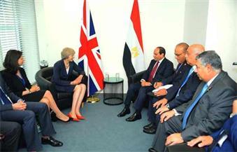 بالصور.. السيسي يلتقي رئيس وزراء بريطانيا علي هامش أعمال الجمعية العامة للأمم المتحدة فى نيويورك.