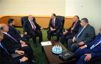 السيسي يؤكد دعم مصر الكامل لجهود العراق فى مجال مكافحة الإرهاب
