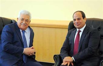 السيسي يلتقى أبو مازن.. ويؤكد أن القضية الفلسطينية ستظل تحتل الأولوية علي أجندة السياسة الخارجية المصرية