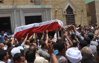 أهالي بني سويف يشيعون جنازة شهيد القوات المسلحة بسيناء