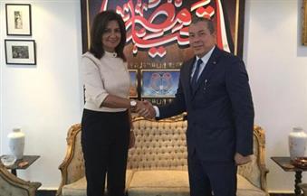 """وزيرة الهجرة تستقبل رئيس رابطة الجالية المصرية بباريس تمهيدًا لتنفيذ دعوة """"لم الشمل"""""""