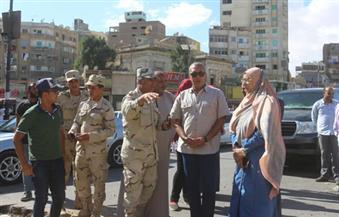 """بالصور.. """"حامد"""" يؤكد  الانتهاء من رصف شارع الجيش قبل احتفالات السويس بالعيد القومي"""