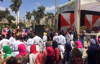 """بالصور.. على أنغام """"الدي جي"""" جامعة القاهرة تواصل استقبال طلابها الجدد"""