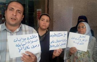"""يعملون 14 ساعة يوميًا.. بالصور.. إضراب موظفي """"عمر أفندي"""" بطنطا للمطالبة بزيادة رواتبهم وتعديل المواعيد"""