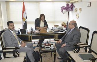 """في إطار مبادرة """"لم الشمل"""".. وزيرة الهجرة تلتقي رئيس اتحاد المصريين في أوروبا لبحث أوجه التعاون"""