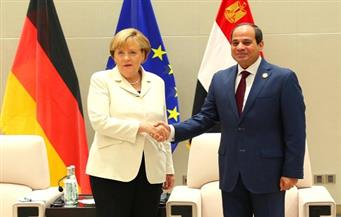 بالصور.. ميركل تشيد بتوصل مصر لاتفاق مبدئي مع صندوق النقد الدولي وتؤكد دعم ألمانيا للسيسي