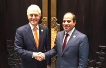 السيسي يلتقي رئيس الوزراء الأسترالي على هامش أعمال قمة مجموعة العشرين بهانجشو