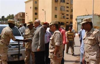 """بالصور.. قائد المنطقة الجنوبية العسكرية بأسوان يتفقد أعمال مبادرة """"حلوة يا بلدي"""""""