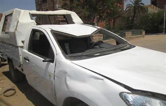 انقلاب سيارة شرطة دون خسائر في الأرواح بأسوان