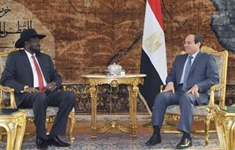 الرئيس السيسي يؤكد لسلفاكير دعم مصر لإحلال السلام فى جنوب السودان