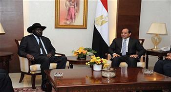 بدء المباحثات الثنائية والموسعة بين السيسي وسلفا كير بقصر الاتحادية الرئاسي