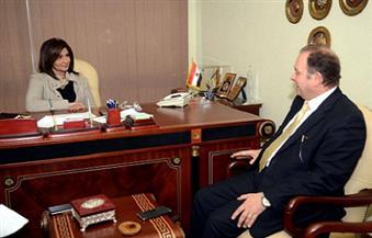 """رئيس """"الريف المصري"""" لوزيرة الهجرة: الباز قدم لنا خرائط للمياه الجوفية على هامش مؤتمر """"مصر تستطيع"""""""