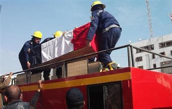 تشييع جثمان شهيد الشرطة ضحية إرهاب العريش في جنازة عسكرية بالفيوم