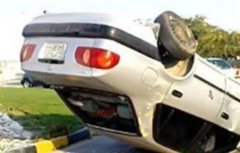 سقوط سيارة ملاكي من أعلى كوبري الحرفيين وكثافات مرورية عالية
