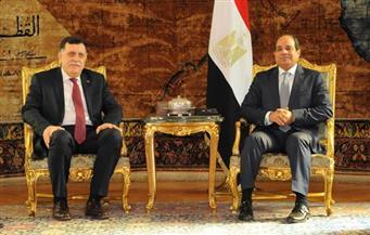 السيسي يستقبل السراج.. ويؤكد: مصر لن تألو جهدًا لتوفير البيئة الملائمة للحوار بين الأشقاء الليبيين