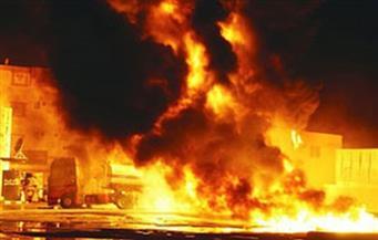 """السيطرة على حريق بسيارة مواد بترولية أعلى """"دائري المريوطية"""""""