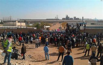 مئات العاملين بأوراسكوم أسوان يتجمهرون للمطالبة بزيادة رواتبهم