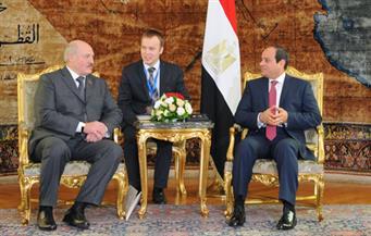 بالصور.. تفاصيل استقبال السيسي رئيس بيلاروسيا وتوقيع عدد من الاتفاقيات بين البلدين