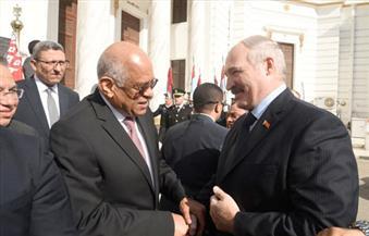 عبد العال يطالب لوكاشينكو بدعم بيلاروسيا لمصر فى توقيع اتفاقية تجارة حرة مع الاتحاد الأوراسي