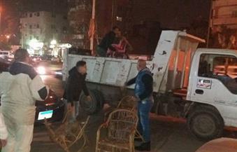 إزالة إشغالات ميدان محطة مصر وشوارع بحي وسط الإسكندرية