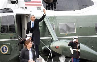 """في رحلته الأخيرة على متن الطائرة الرئاسية أوباما يشكر موظفيه لإثباتهم """"قوة الأمل"""""""