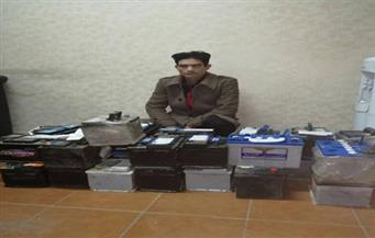 القبض علي مسجل خطر سبق اتهامه في 18 قضايا جنائية وبحوزته 24 بطارية سيارات بالشرقية
