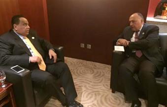 شكري يؤكد لنظيره السوداني حرص مصر على عدم الانسياق وراء أي محاولات للوقيعة بين البلدين
