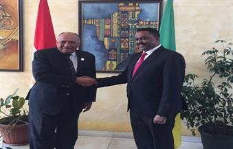 """شكري يجرى محادثات مع نظيره الإثيوبي حول العلاقات الثنائية وتطورات """"سد النهضة"""""""