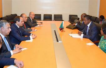 بالتفاصيل..  لقاء السيسي ورئيس زامبيا بأديس أبابا