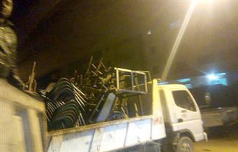 رفع 442 حالة إشغال وإزالة 21 حاجزا خرسانيا في مدن الغربية