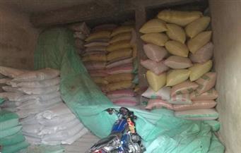 ضبط 1.5 طن أرز ونصف طن سكر تمويني و4.5 طن أعلاف حيوانية مجهولة المصدر في الشرقية