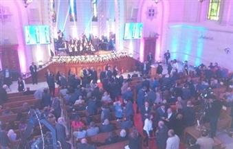 بدء حفل الكنيسة الإنجيلية بعيد الميلاد في قصر الدوبارة