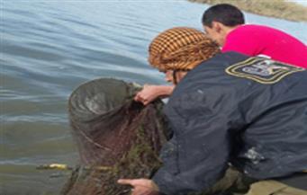 بالصور.. المسطحات المائية بكفرالشيخ تُزيل المخالفات على مساحة 6 أفدنة في بحيرة البرلس