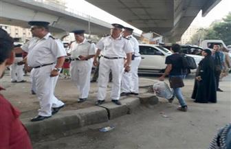حي العمرانية يشن حملة لإزالة الإشغالات والباعة الجائلين | صور