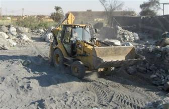 إزالة 4 مكامير فحم ملوثة للبيئة في قرية الفقهاء بكفر الشيخ